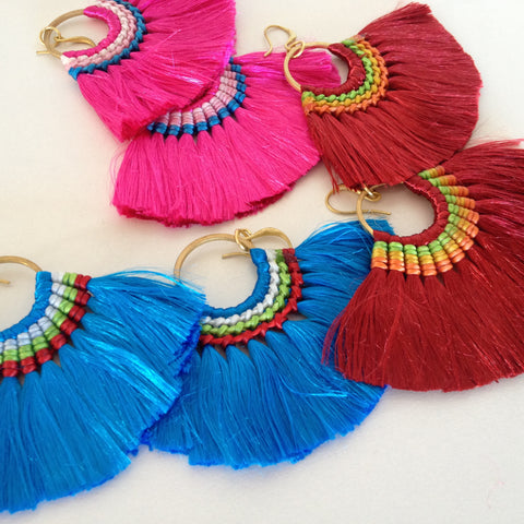Braided Tassel Earrings - Japri