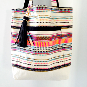Mixed Stripes Tote Bag - Japri
