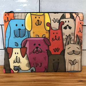 Quirky Dogs Large Clutch