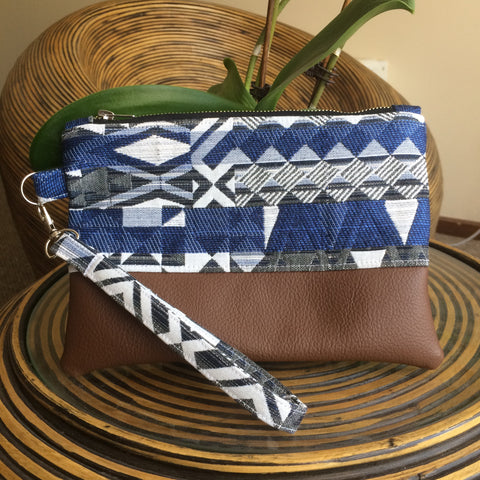 Aztec Blue Clutch - Japri