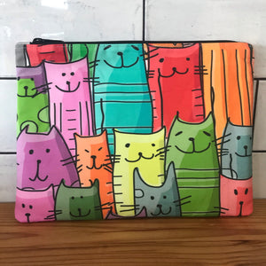 Quirky Cats Large Clutch