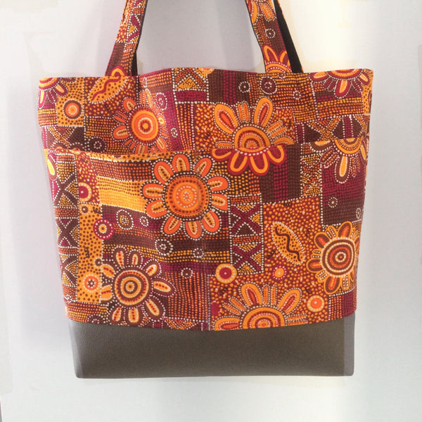 Red Centre Tote - Japri