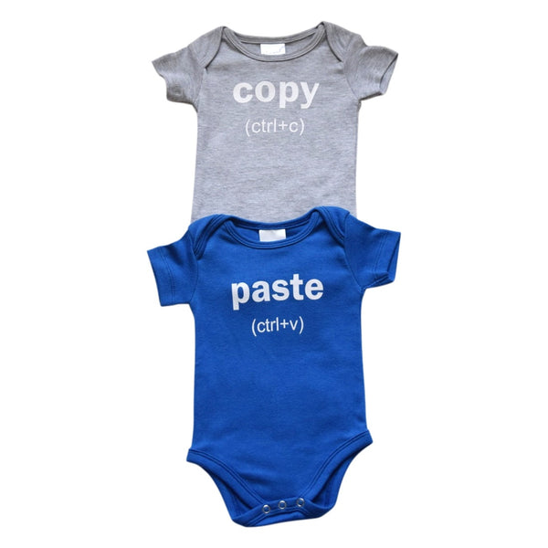 Romper set twins onesie, romper, infant, baby, cheesecake apparel