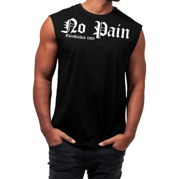 Sleeveless Tee New No pain TB1562 [N17-D01]