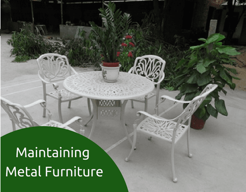 5 Tips for maintaining Metal Furniture