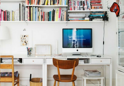 How to squeeze a home office in your small space.
