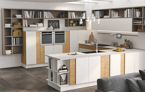 u-shaped kitchen layout