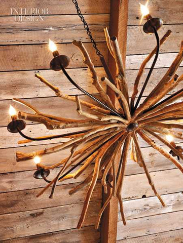 wooden light fitting