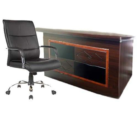 1.4 Meter Executive Table +107 Leather Chair