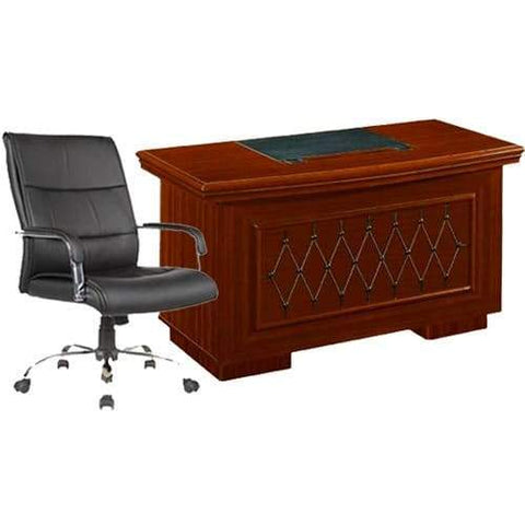 1.4 Meter Executive Table + 107 Leather Chair