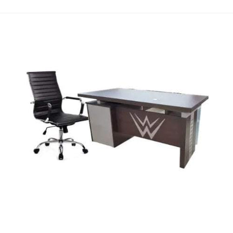 1.4Mtr Office Desk + Blaze Leather chairs
