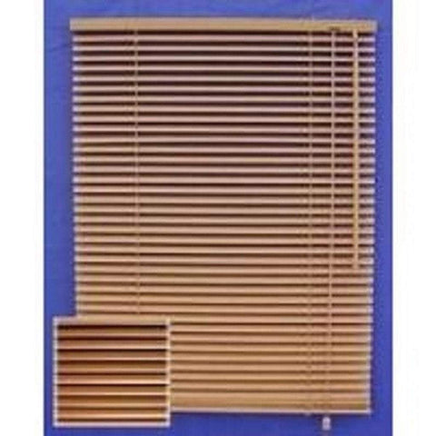 1.5W x 1.5H Metre  Wood-finish Aluminium Horizontal Blinds