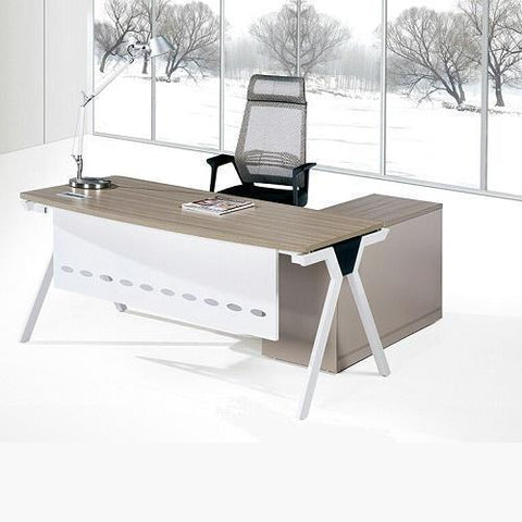 1.6 Metre Top Office Desk-Brown