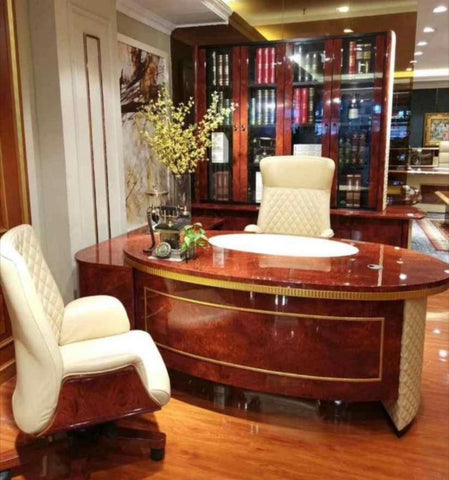 1.8 Meter Modern Executive Table & Bookshelf