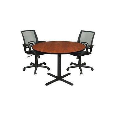 1-Round Meeting Table + 2 Mesh Swivel Chair