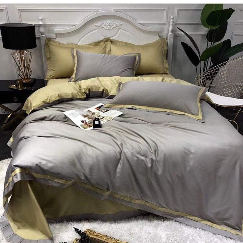 10pc Bedding Set with Duvet covers & 6 pillow cases-Grey