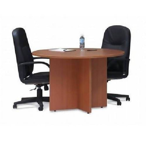 2 Leather Chairs + 1 Round Meeting Table Bundle Offer
