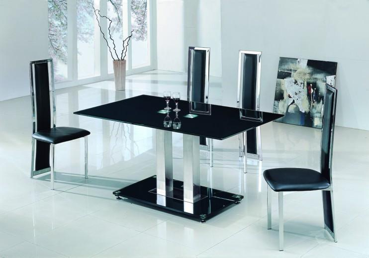 2 Pole Dining Table + 6 chairs-Z212
