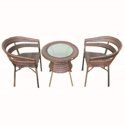2 Seater Wicker Coffee Table and Chair