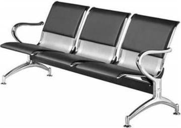 3 Seater Reception Bench-Partly Leather
