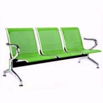 3-seater Reception Metal Bench - Green