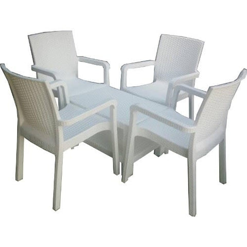 4 Malibu Arm Chairs with Lugano centre table