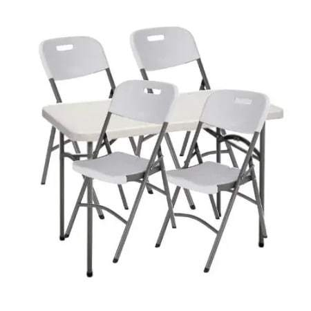 4-seater Plastic Table + 4 Chairs