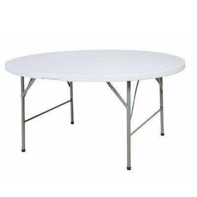 5-Feet Round Plastic Folding Table