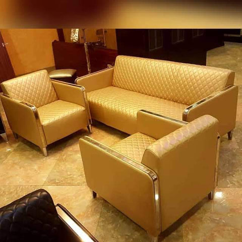 5 Seater Leather sofa set - Gold