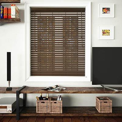 50mm Slats Wooden Venetian Blinds - 100cm x 100cm
