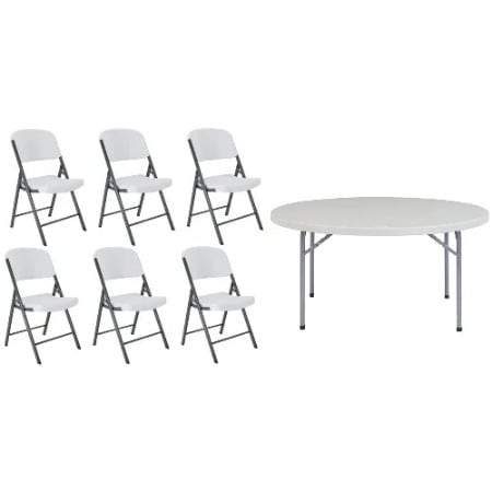 6-seater Plastic Table + 6 Chairs