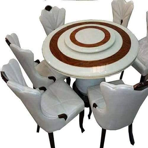 6 Seater Round Dining Table Set