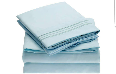6 set duvet covers with 4 pillowcases-Blue