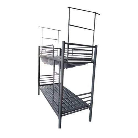 6ft x 3ft DOUBLE BUNK METAL BED WITH NET