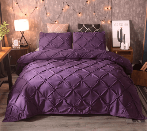 8 100%  America cotton bedding set uniquely designed and do not wither or spoil with every wash-PURPLE