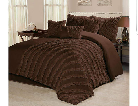 8pc Bedding Set with Duvet covers & 4 pillow cases-Brown