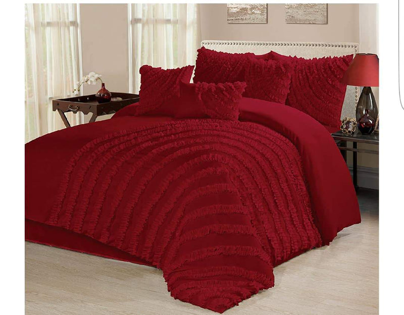 8pc Bedding Set with Duvet covers & 4 pillow cases-Red