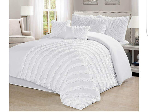 8pc Bedding Set with Duvet covers & 4 pillow cases-White