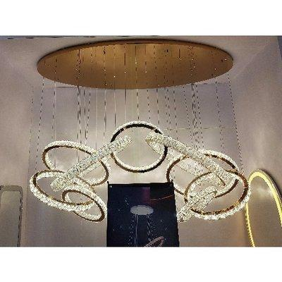 9 Piece Grand Crystal Chandelier with Remote