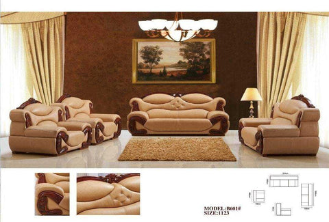 Adalberto Leather Sofa Set-B601