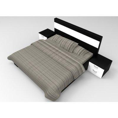 Adelia Series; 6 x 6 Feet Bed frame (Black and White)