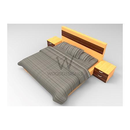 Adelia  Series; 6 x 6 Feet Bedframe (Golden-brown and Mansonia)