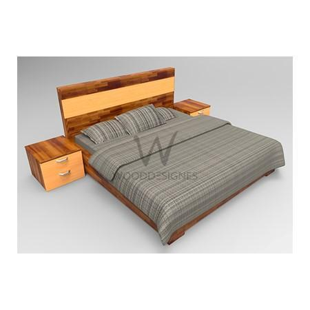 Adelia Series; 6 x 6 Feet Bedframe (Teak ad Golden-brown)