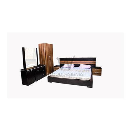 Adelia series set (6*6 ft bed frame, 3 feet wardrobe and Amarda Vanity table)