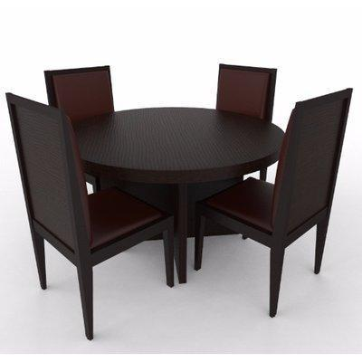 Aden Series 4 Seater Dining Set-Dark Brown