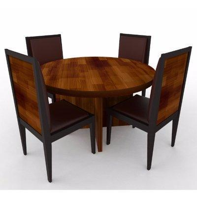 Aden Series 4 Seater Dining Set-Teak