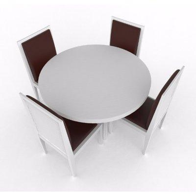 Aden Series 4 Seater Dining Set-White
