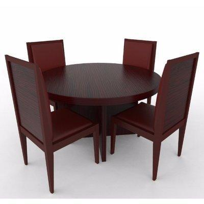 Aden Series - 4-Seaters Dining Set Red-Brown