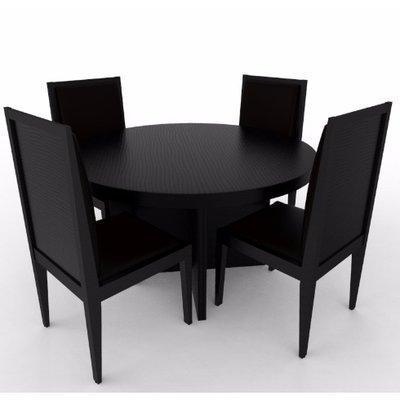 Aden Series; Dining Set - Black