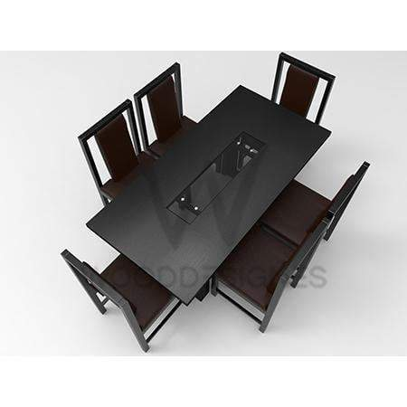 Alvar Pad Series; 6 Seater Dining (Black)